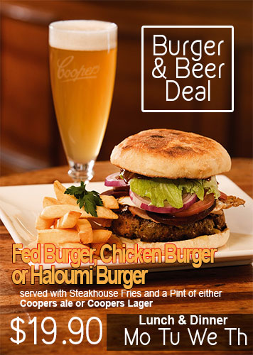 Burger & Beer Deal